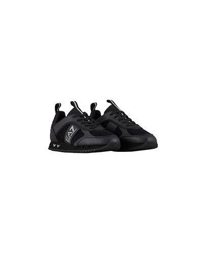 Кожаные кроссовки - черные Ea7