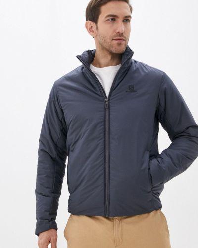 Утепленная серая куртка Salomon