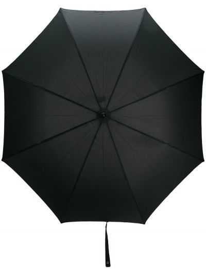 Czarny parasol z paskami na hakach Paul Smith