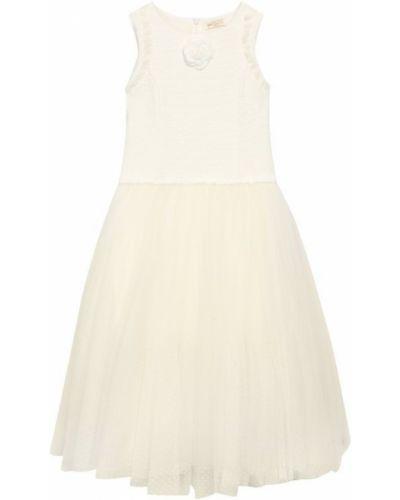 Пышное платье из фатина с рукавами Monnalisa