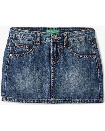 Синяя джинсовая юбка United Colors Of Benetton