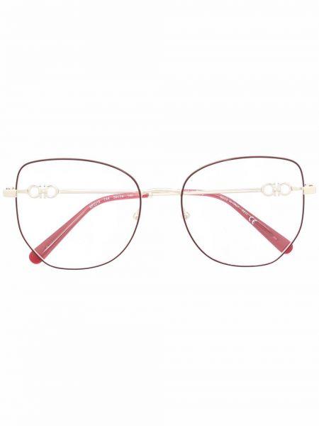 Różowe złote okulary Salvatore Ferragamo