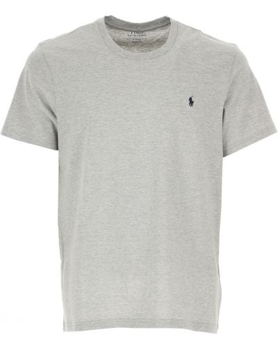 T-shirt bawełniana - szara Ralph Lauren