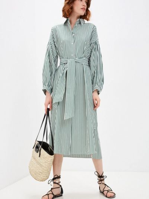 Зеленое платье-рубашка Weekend Max Mara