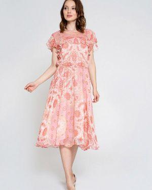 Платье розовое прямое Luisa Wang