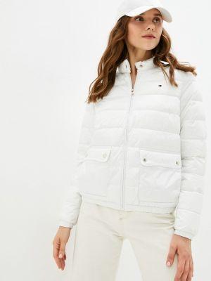Белая куртка осенняя Tommy Hilfiger