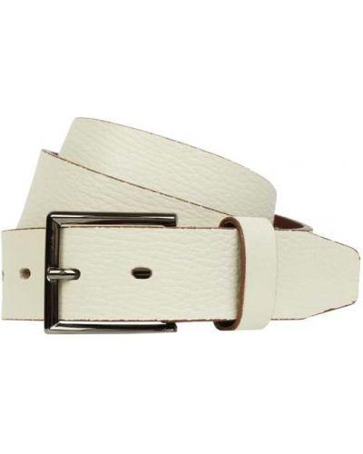 Biały pasek skórzany Lloyd Men's Belts