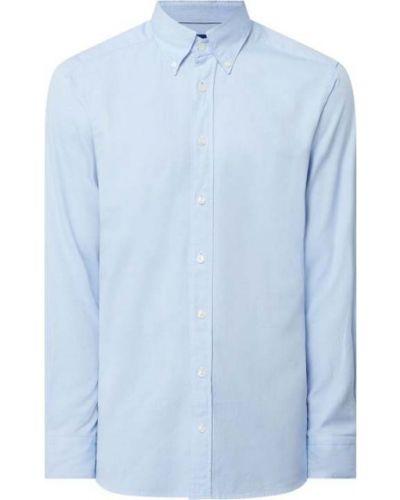 Niebieska koszula oxford bawełniana z długimi rękawami Eton