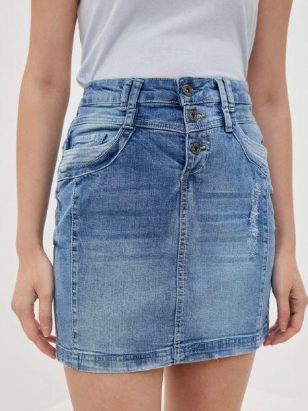 Синяя джинсовая юбка Sublevel