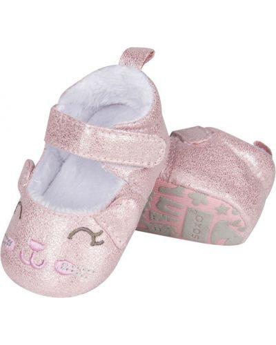 Розовые босоножки текстильные Soxo