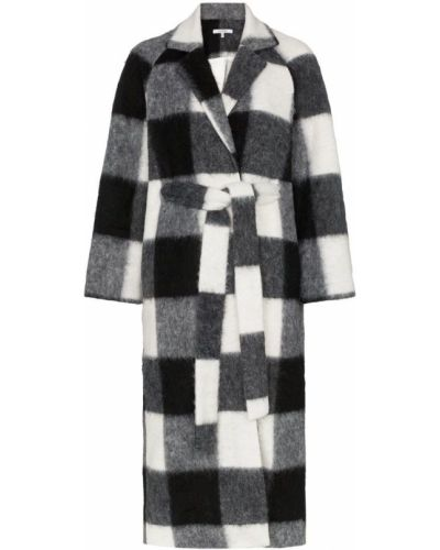 Черное пальто с капюшоном Ganni