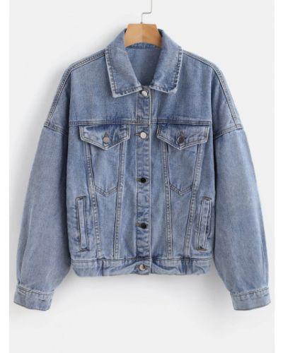 Джинсовая куртка синий Zaful
