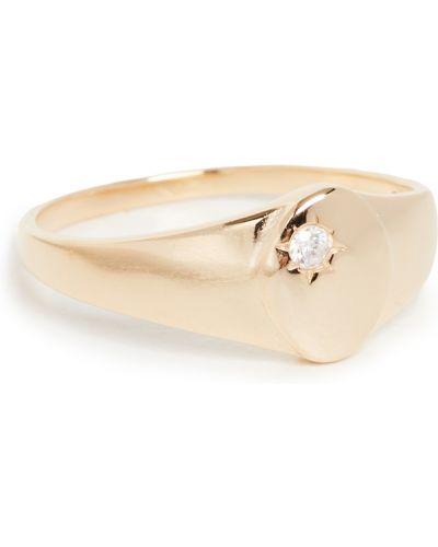Złoty pierścionek z cyrkoniami Shashi