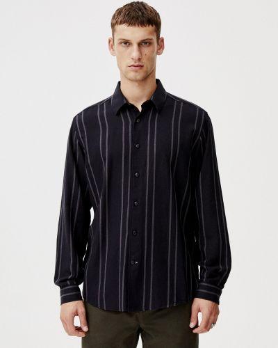 Черная рубашка с медведем Pull & Bear