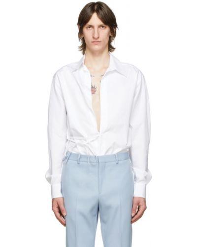 Bawełna biały koszula z kołnierzem z mankietami Givenchy