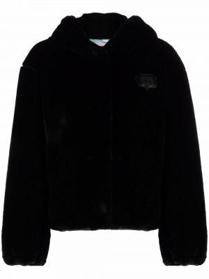 Черная куртка с капюшоном Chiara Ferragni