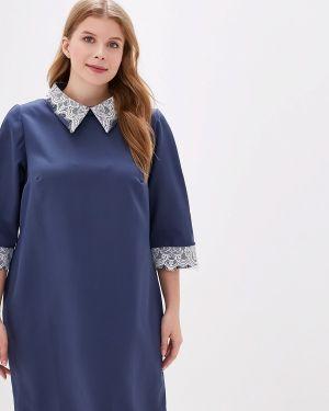 Повседневное платье синее Jp