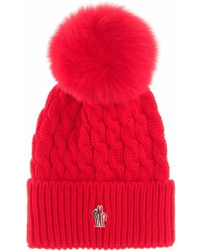 Prążkowany czapka beanie wełniany Moncler Grenoble