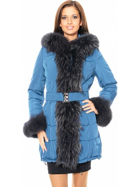 Текстильная куртка - синяя Mor`a