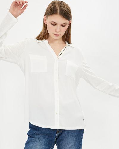 Белая блузка из вискозы с вырезом Baon