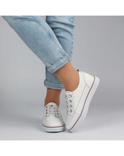 Кожаные кроссовки - белые Berisstini