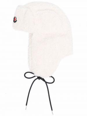 Czapka z nausznikami - biała Moncler