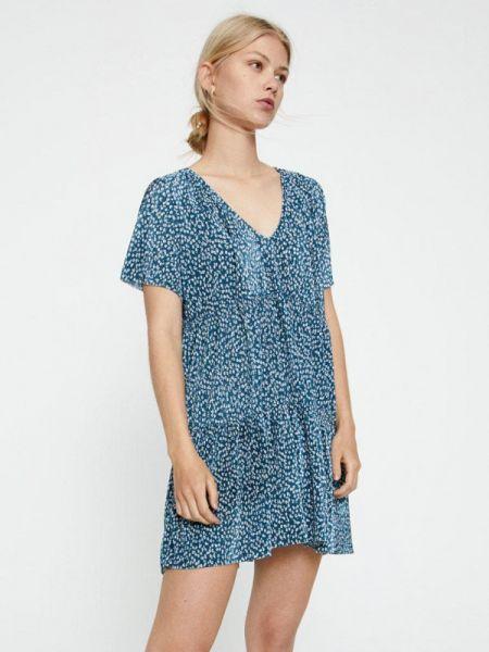 Платье бирюзовый прямое Pull&bear