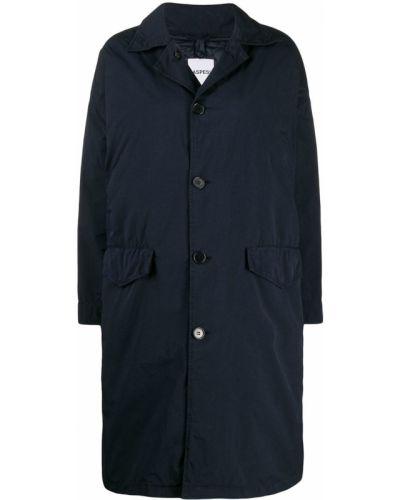 Длинное пальто без воротника на кнопках Aspesi