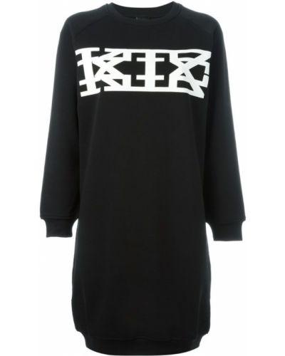 Хлопковое платье - черное Ktz