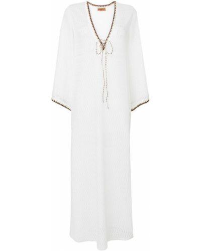 Платье с V-образным вырезом солнце с длинными рукавами Missoni