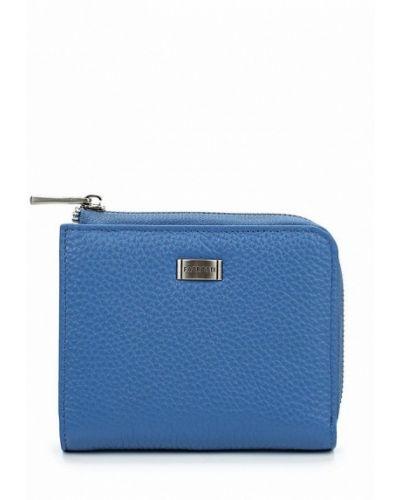 Голубой кожаный кошелек Fabretti