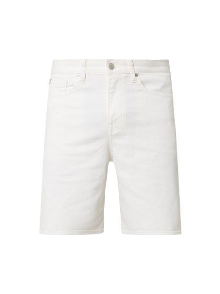 Białe bermudy bawełniane Ck Calvin Klein