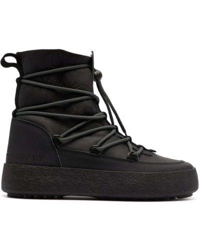 Кожаные дезерты - черные Moon Boot