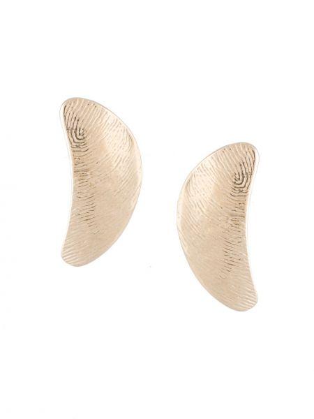 Złote kolczyki sztyfty Lemaire