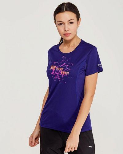 Синяя спортивная футболка Li-ning