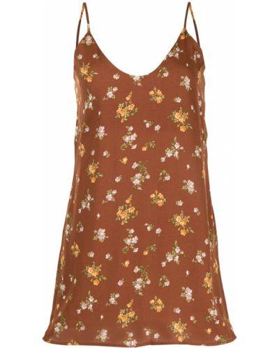 Платье с запахом - коричневое Reformation
