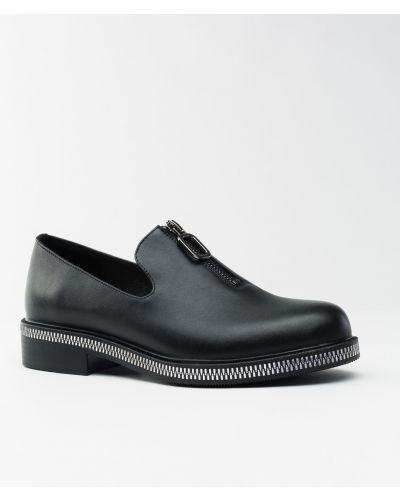 Кожаные туфли черные Vensi