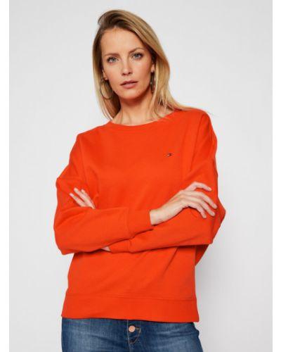 Pomarańczowa bluza oversize Tommy Hilfiger