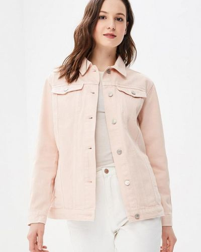 Джинсовая куртка весенняя розовая Jennyfer