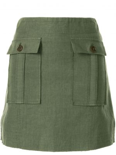 Прямая юбка мини с карманами Venroy