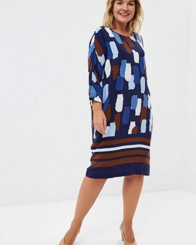 Повседневное платье осеннее синее Samoon By Gerry Weber