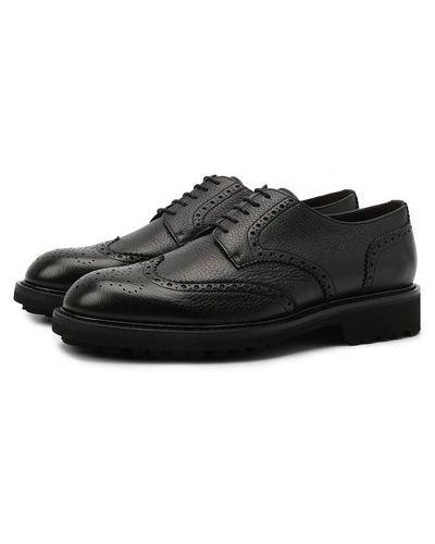 Черные итальянские туфли Canali