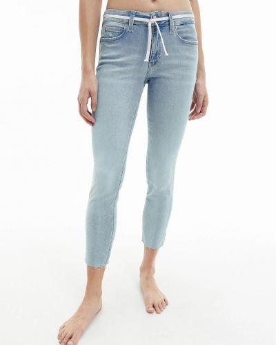 Джинсовые зауженные джинсы - синие Calvin Klein Jeans