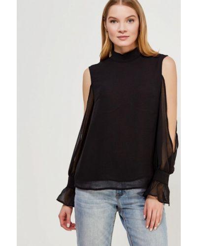 Черная блузка с рюшами Lost Ink.