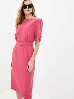 Розовое платье-футляр Cavo
