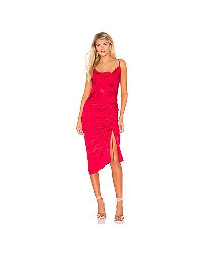 Платье миди розовое с завышенной талией Lovers + Friends