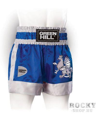 Спортивные шорты атласные синий Green Hill