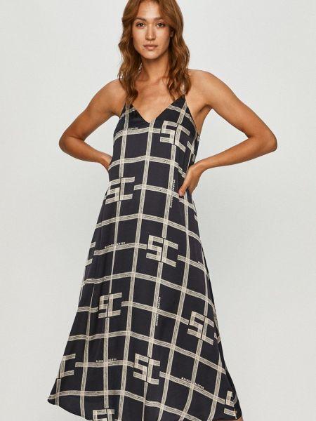 Платье с V-образным вырезом - синее Scotch & Soda