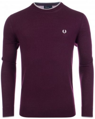Fioletowy sweter Fred Perry