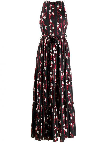 Черное платье с американской проймой из вискозы La Doublej